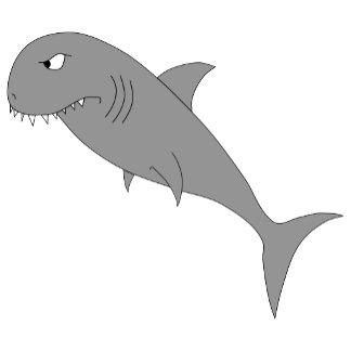 Shark on gray stripes.