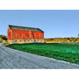 Red Barn in the sun