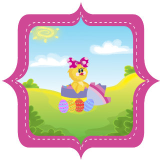 Personalized Cute Easter Chick