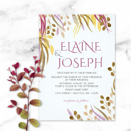 Botanical Branches Wedding Invitations