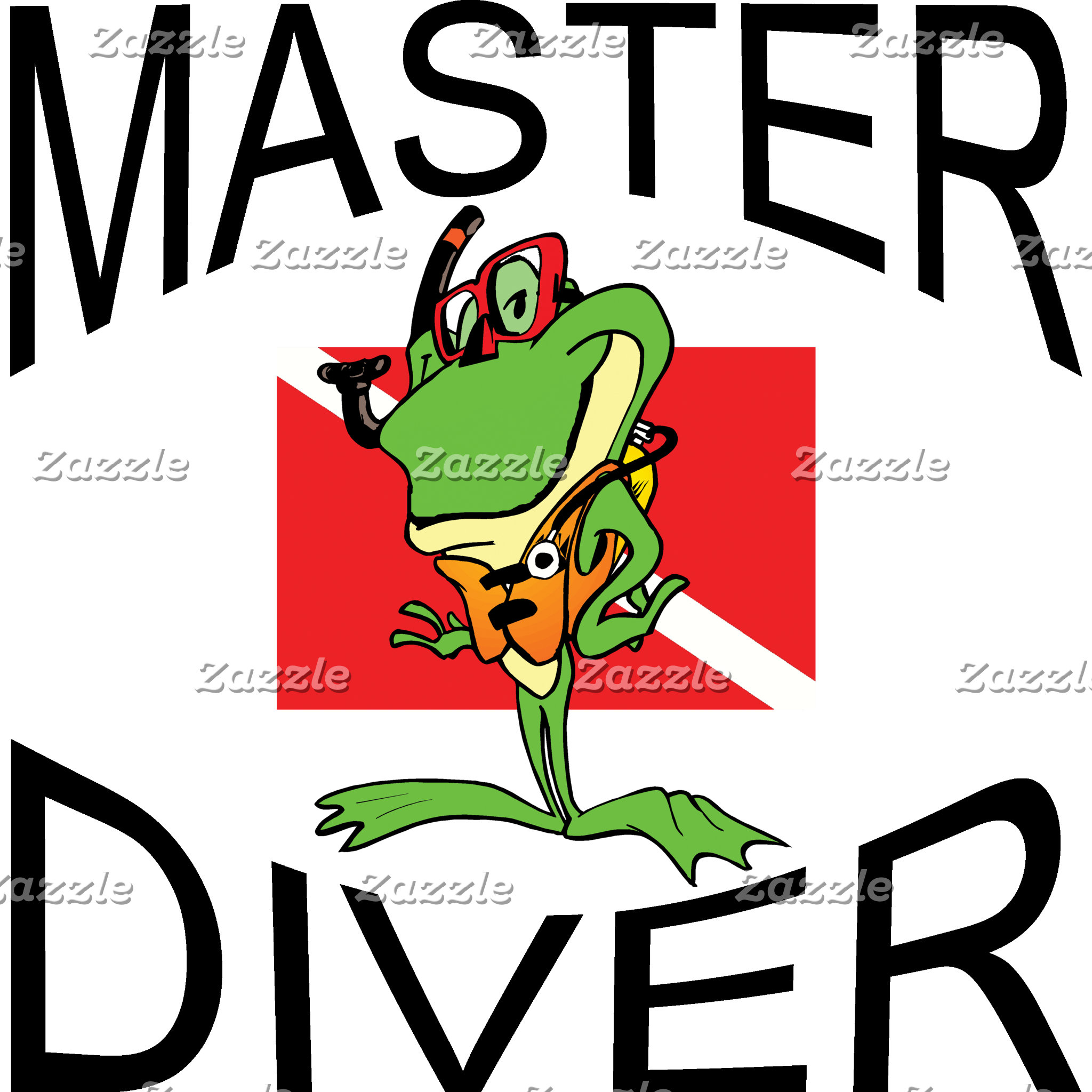Master Diver SCUBA  T-Shirt Gifts Cards
