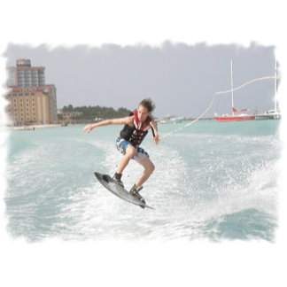 Wakeboarder Jumping