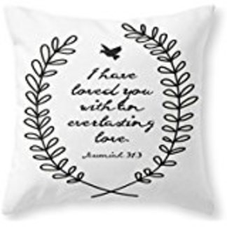 Biblical sayings pillow