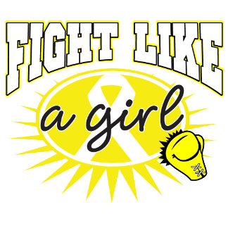 Bladder Cancer Fight Like A Girl Sporty Callout