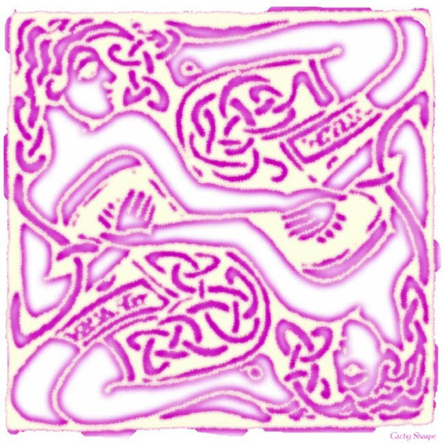 Celtic Pink Entwined Ladies