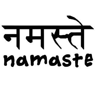 Namaste in English and Hindi