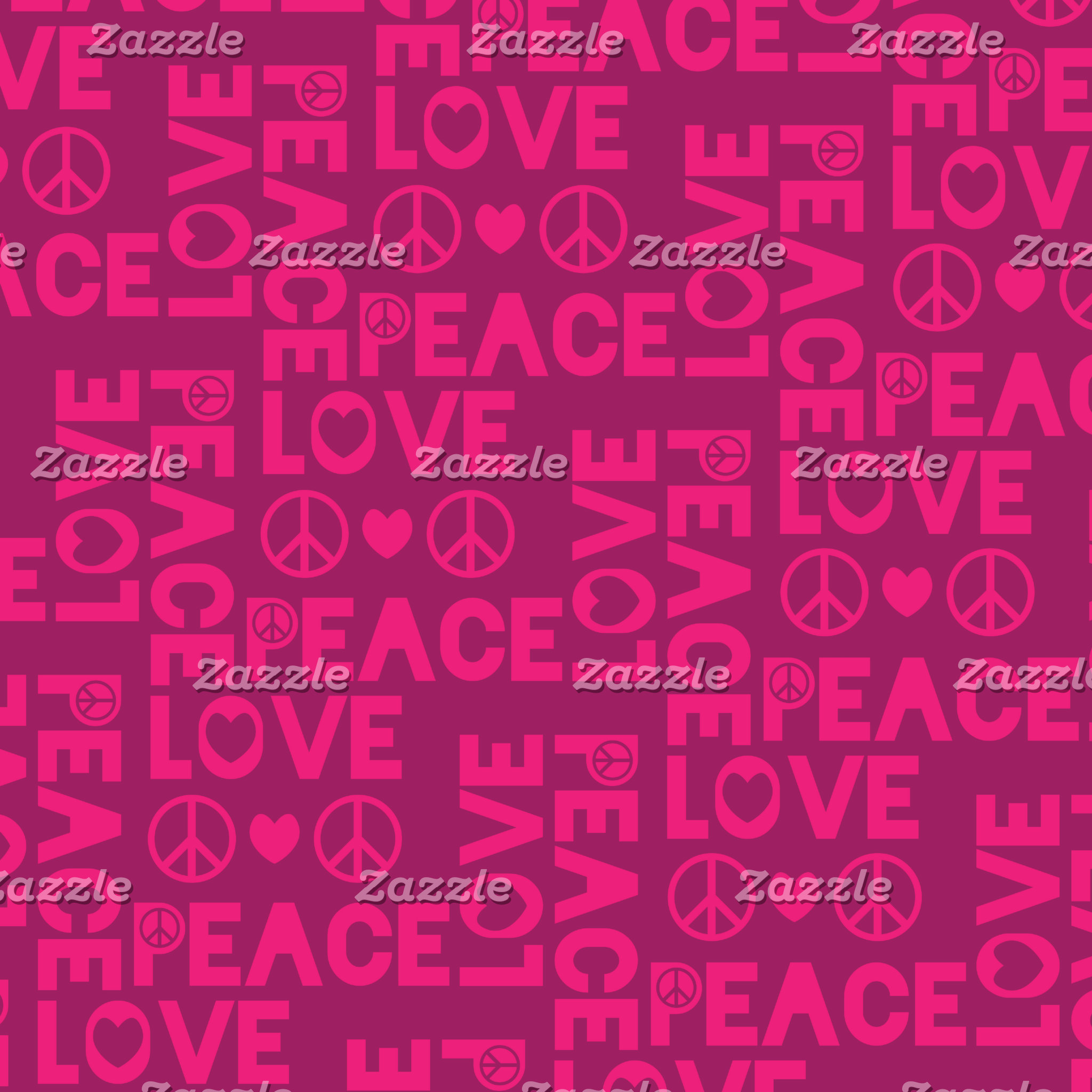 Peace and Love Pink Purple