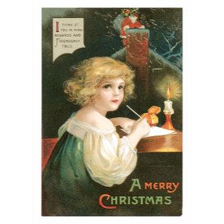 A Merry Christmas ~ Santa Claus & Sweet Girl
