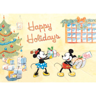 Classic Mickey and Minnie Happy Holidays