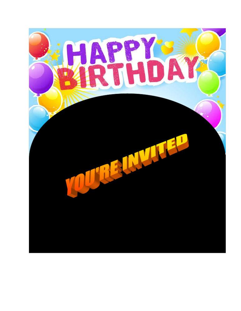 Invitations ~ Birthdays