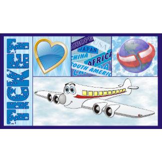 Airline Ticket Cartoon