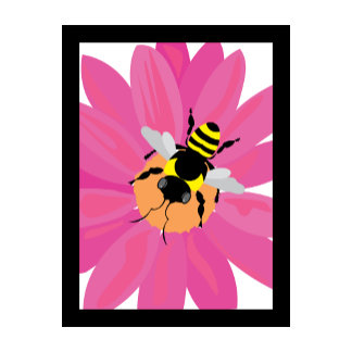 Flower & Bee Window