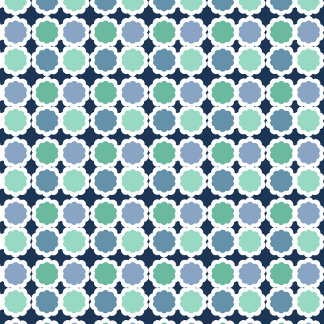 Blue and Green Geometric Abstract 2