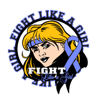 Stomach Cancer Fight Like A Girl Attitude