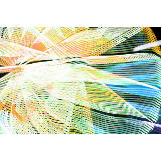neon streaks yellow blue midway carnival abstract