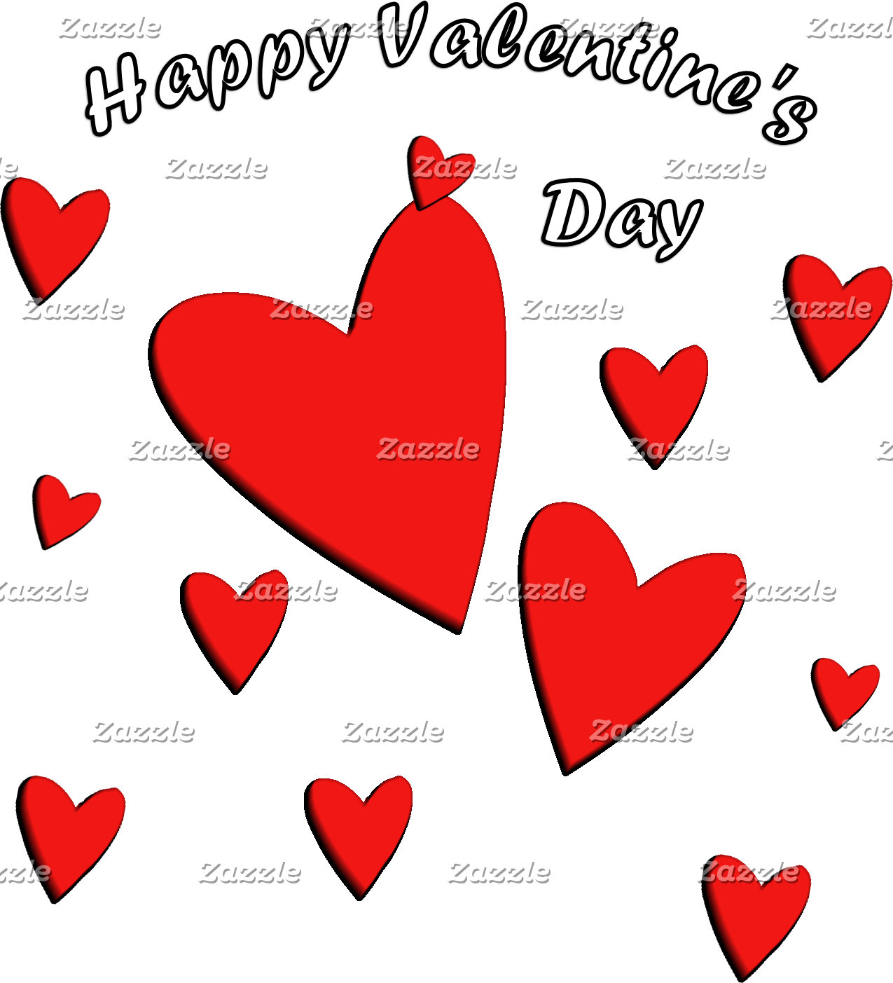 Happy Red Hearts
