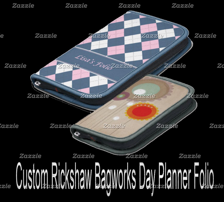 Custom Rickshaw Bagworks Day Planner Folio
