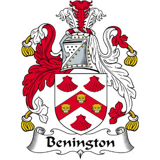 Benington Family Crest / Coat of Arms