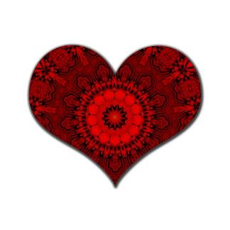 Red Kaleidoscope Heart
