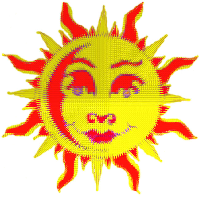 Happy Sun Motif