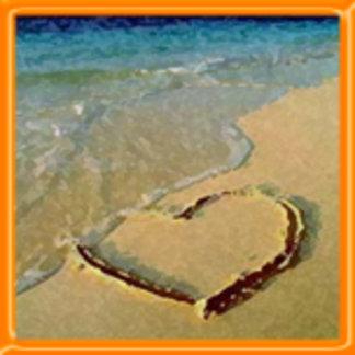Salty Heart on the Beach Design