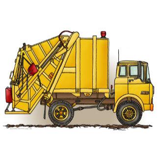 Garbage Truck Yellow