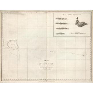 Chart of Necker Island
