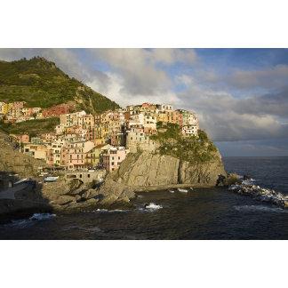 Italy, Cinque Terre, Manarola. Village on cliff.