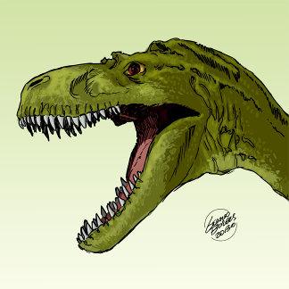 Roaring T-Rex Dinosaur by Geraldo Borges
