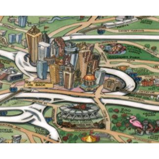 Atlanta Georgia Cartoon Map