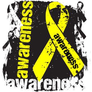 Suicide Awareness Grunge Ribbon