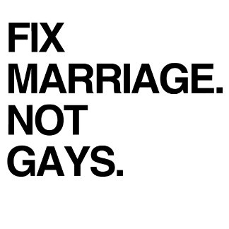 FIX MARRIAGE. NOT GAYS