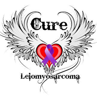 Cure Leiomyosarcoma Heart Tattoo Wings