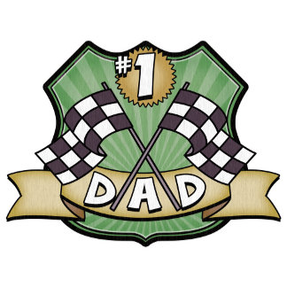 #1 Dad Father's Day Race Fan