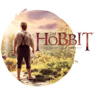 The Hobbit Logo with Bilbo Back