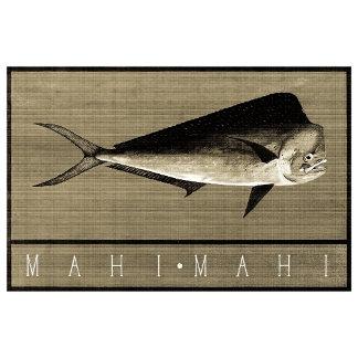 Mahi-Mahi Vintage Black & White