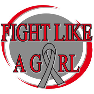 Brain Cancer Fight Like A Girl Circular
