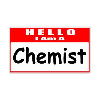 Hello, I Am A Chemist ... Nametag
