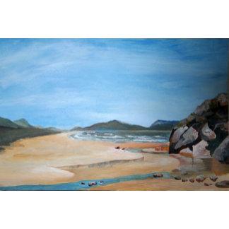 Sandy Beach and Rock Pool
