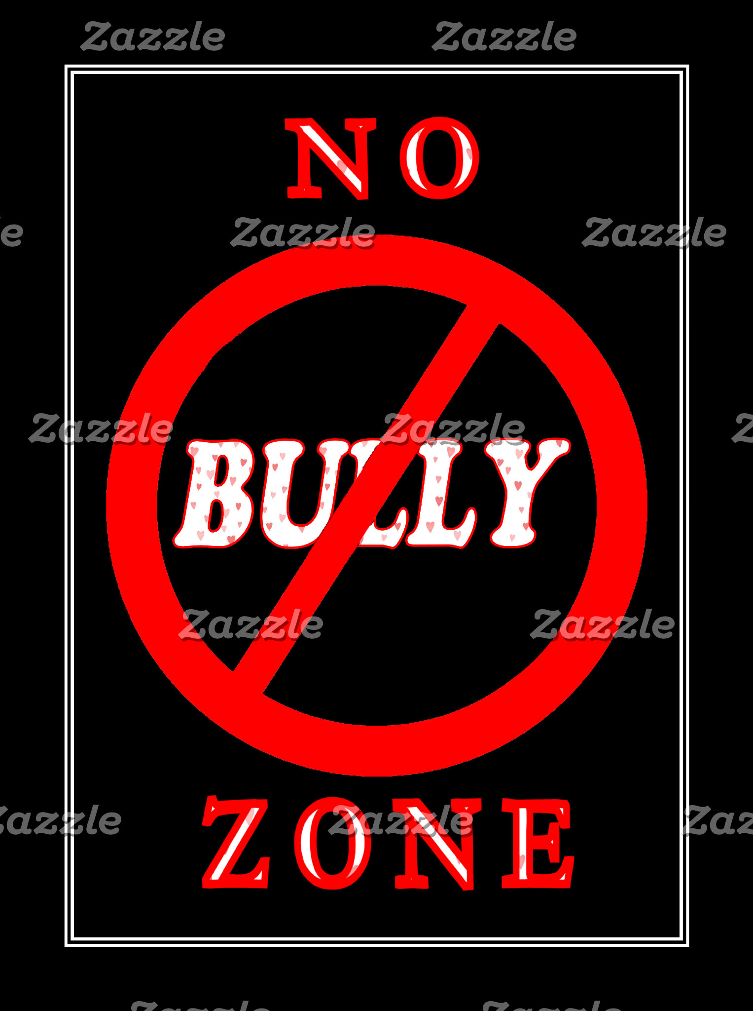 Black No Bully Zone