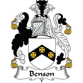 Benson Family Crest / Coat of Arms