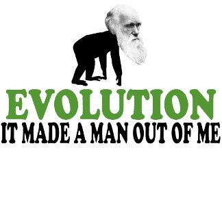 Evolution tee shirt and Darwin evolution stuff