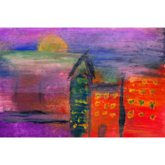 Abstract - Acrylic - Lost in the city