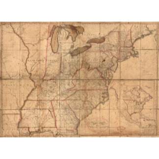 Map of the United States By Abraham Bradley Junior