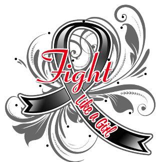 Melanoma Cancer Fight Like a Girl Flourish