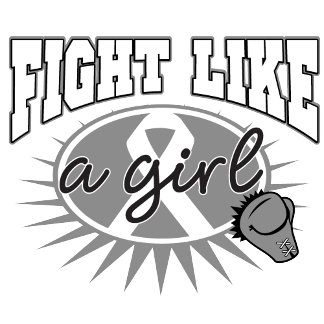 Brain Tumor Fight Like A Girl Sporty Callout