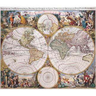 Double Hemisphere Polar Map