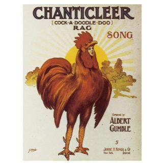 Chanticleer Rag - Vintage Song Sheet Music Art