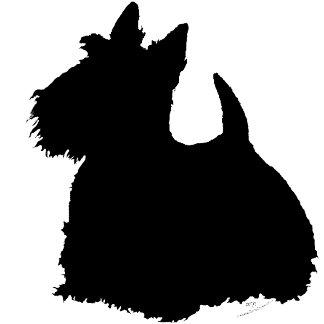 Alert Scottish Terrier Silhouette