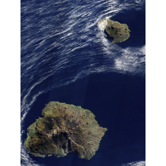 Satellite view of the Prince Edward Islands